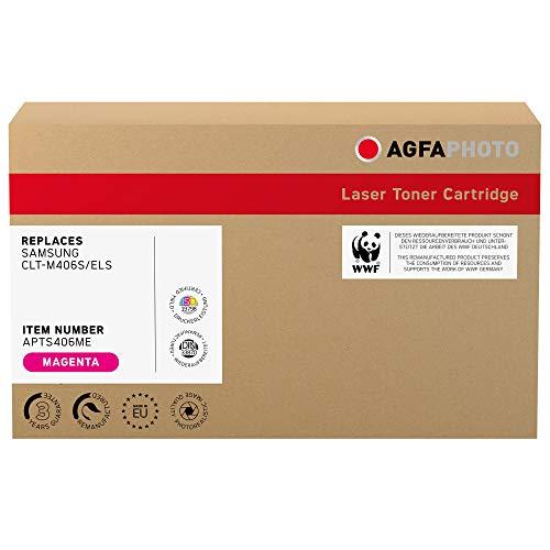 AgfaPhoto Laser Toner ersetzt Samsung CLT-M406S/ELS, 1000 Seiten, Magenta-rot (für die Nutzung in Samsung CLP 360)