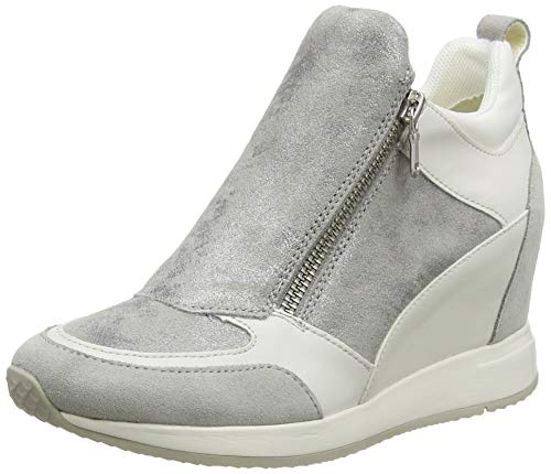 Geox Damen D NYDAME E Sneaker, Grau (Lt Grey C1010), 38 EU