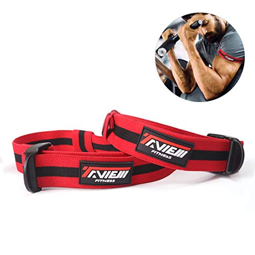 Taview Occlusion training Bands for Blood Flow Restriction training e Fast Muscle Growth without lifting Heavy Weights, Arm Bands (2pc)