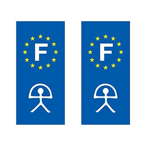 Lot de 2 sticker plaque immatriculation voiture logo régionaux Indalo