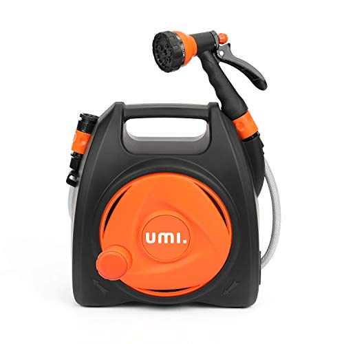 Umi. by Amazon- Garden Hose Reel, Compact Wall-Mounted Reel, 10+1.8M Hose,...