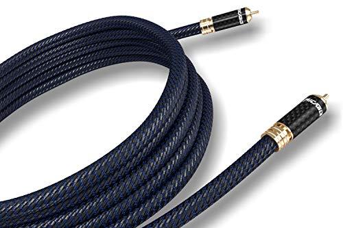 Ricable VB2 Invictus Sub 2 MT - Câble Audio de Signal High-End RCA pour Subwoofer Caisson de Basse avec Noise Reduction