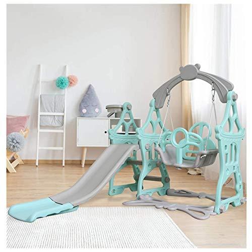 Juego de columpio, montañismo y columpio para niños pequeños, apto para cestas de interior y patio trasero de 3 a 8 años de edad, juguete para jugar al aire libre