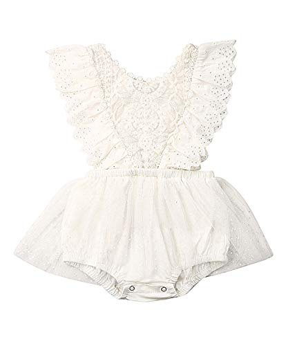 Newborn Infant Baby Girl Clothes Lace Halter Backless Jumpsuit Romper Bodysuit Sunsuit Outfits Set
