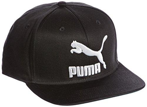 PUMA LS Colourblock Snapback Cap, Black/White/Solid, One Size