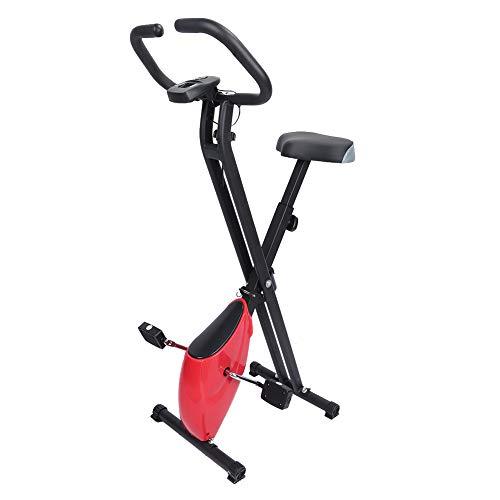 Bicicleta estática para interiores, bicicleta plegable para entrenamiento muscular, bicicleta doméstica, máquina estacionaria con cojín cómodo, silenciosa para el gimnasio en casa