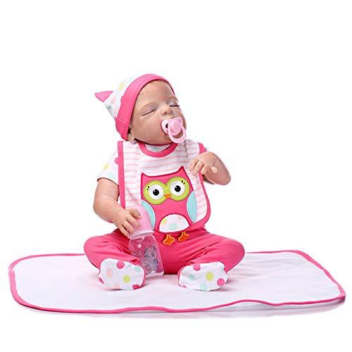 HWZZ 56Cm Realistische Wiedergeborene Babypuppen Weiches Vinylsilikon Lebensechte Neugeborene Babypuppen, Die Mit Magnetischem Mund Handgemachtes Echt Aussehen,56cm