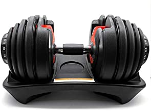 D.Y.A Adjustable Dumbbell Fitness Equipment Strength Training 52.5 lbs Fitness Dial System Dumbbell with Handle and Weight Plate for Men Women Bodybuilding Workout Home Gym (2 Pack)