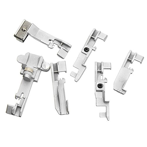 Cutogain 6 piezas Serger Overlock Prensatelas Accesorios para Singer 14CG754 14SH654