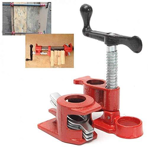 Eisen Heavy Duty Holzklebstoffe Rohrschelle Set Holzverarbeitung Tischler Werkzeuge - Rot 1/2
