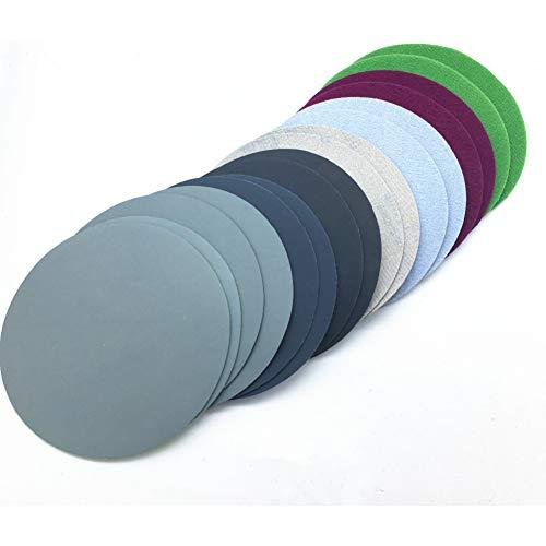 FDKKK 20 stücke 50mm Wasserschleifpapier 2 zoll Körnung 800-3000 Schleifscheiben Klettschleifpapier Runde Schleifpapier Scheibe Sand Blatt