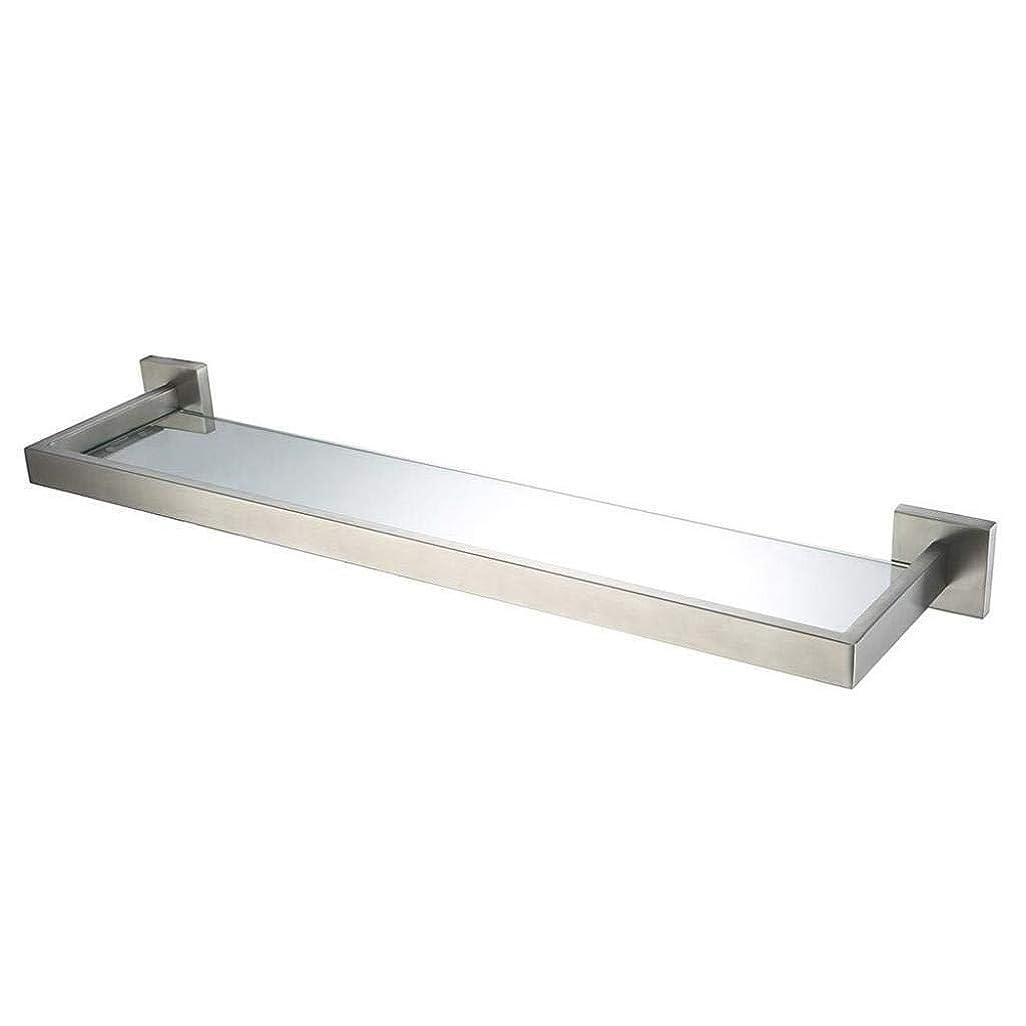 CCSLE 浴室の壁に取り付けられたガラス棚、304ステンレス鋼の浴室用ラック、トイレ収納ホルダー、ホテル キッチン、バスルームに適しています (Size : 50cm)