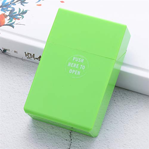 20 palitos Caja de Cigarrillos de plástico para Las Mujeres Alargada de la Cubierta Delgada Delgada Cámara de Cigarrillo Duradera para Hombres Multicolor Yixianjiacheng (Color : Army Green)