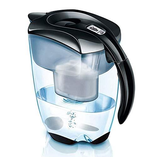 Jarra de filtro de agua para cocina casera con filtros, purificador de agua grande de 3.5L (sin BPA) Filtración de agua de 5 capas para reducir el cloro, plomo, alcalinos, metales pesados y olor (C