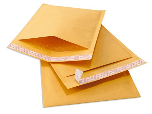 Sales4Less #00 Kraft Bubble Mailers 5X10 Inches Shipping Padded Envelopes Self Seal Cushioned Mailer 25 Pack