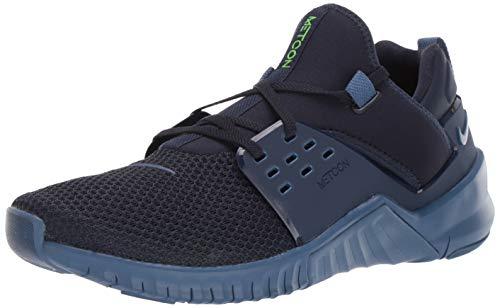 Nike Free X Metcon 2, Zapatillas de Deporte Fitness y Ejercicio Hombre, Obsidian/Electric Green/Mystic Navy, 40.5 EU