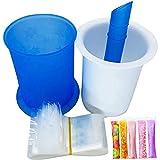 Operalie Freeze Pops Maker, DIY Ice Maker con 20 Bolsas Desechables para Molde de paletas, Reutilizables, de fácil liberación, Freeze Pops Maker para Hacer paletas heladas, Caramelos de Hielo