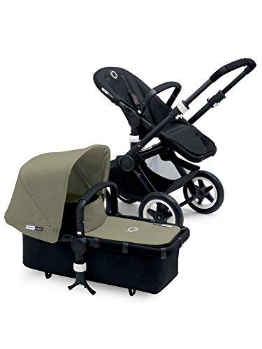 Lowest Price! Bugaboo Buffalo Black Frame Stroller (Dark Khaki)