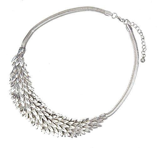 Ella Jonte Statementkette Silber by Blätter Flügel Halskette Kurze Kette newin