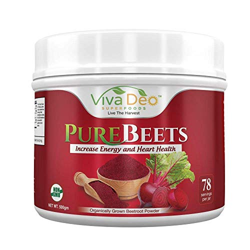 PureBeets | Made from Pure Organically Grown Beets | Best Value Beetroot Nitric Oxide Supplement | Beets Support Faster Recovery & Total Body Health - Viva Deo (17.5 oz, 78 Servings)