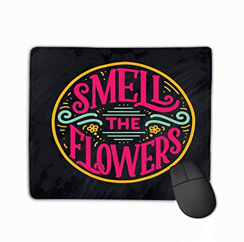 Muiskussen, uniek bedrukte muismat ontwerp letters citaat bloemen gemaakt ansichtkaart uitnodiging ontwerp handgetekende samenstelling winkel