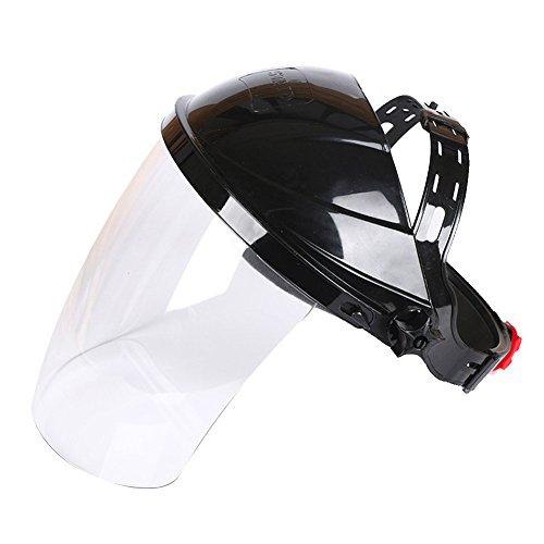Casco de Soldadura, Protector Facial, Lente Transparente QIND antiUV antigolpes, máscara de Seguridad, protección de Ojos, Visera de la Cara ⭐