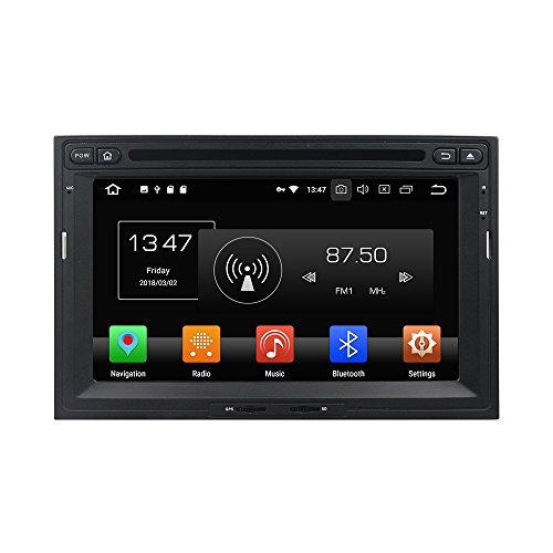 Android 9.0 Octa Core DVD de Voiture Navigation GPS Lecteur multimédia stéréo de Voiture pour Peugeot 3008 5008 PG Partner 2010-2016 Autoradio Commande au Volant avec WiFi Bluetooth Carte SD Gratuit