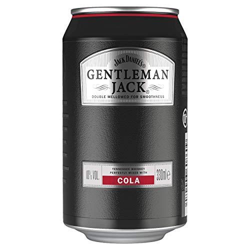 Jack Daniel's Gentleman Jack & Cola, 12 x 0,33L, 10% Volume, Extra Mild Tennessee Whiskey mit Cola