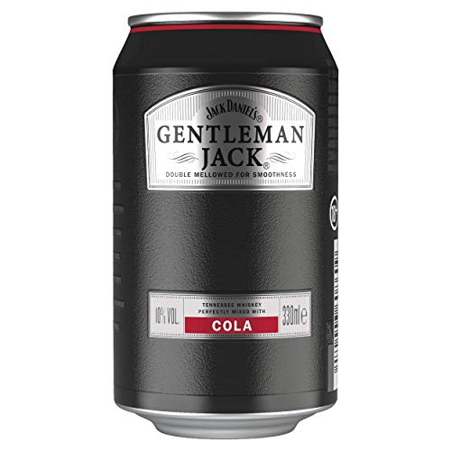Gentleman Jack Jack Daniel's & Cola, 12x 0,33L, 10% Volume, Whiskey Cola Extra Mild Whisky, 3960 ml