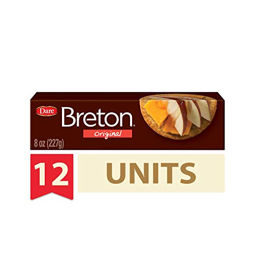 Dare Breton Crackers – Party Snacks with no Artificial Flavors and 0g of Trans Fat per Serving – Original, 8 Oz (Pack of 12)
