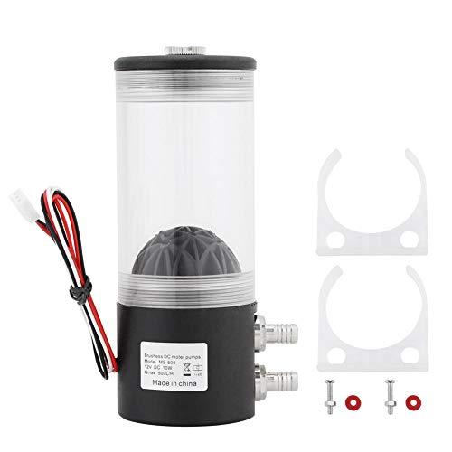 Wasserkühler Kühler, 500L/H 10W DC 12V CPU Wasserkühlpumpe CO2 Wasserkühler Pumpentank für PC Kühlkörper