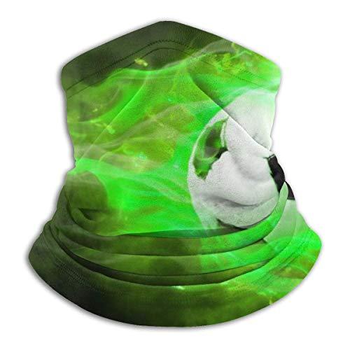 ShiHaiYunBai Tour de Cou Cagoule Microfibre Chapeaux Tube Masque Visage, Green Soccer Fleece Neck Warmer - Reversible Neck Gaiter Tube, Versatility Ear Warmer Headband & For Men And Women