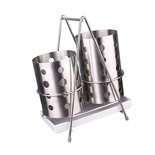 Sharplace Support Baguettes Ustensiles de Cuisine Inox Coutellerie Vaisselle Cage Organisateur