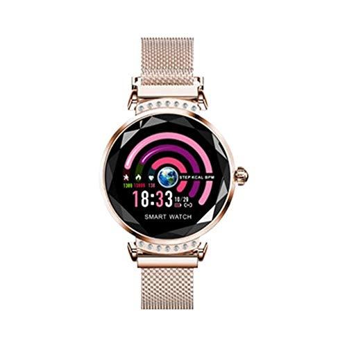ZZJ Smart Watch, Pressione delle Ragazze delle Donne del Diamante 3D Orologi Heart Rate Monitor Sangue Bracciale IP67 Impermeabile Intelligente vigilanza di Modo,C