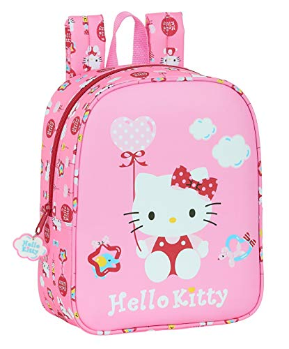 Safta Mochila Infantil de Hello Kitty Balloon, Rosa Claro, 220x100x270mm