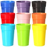 plastic alternative cups - Youngever 18 Pack 12 Ounce Plastic Kids Juice Tumblers, Unbreakable Drinking Glasses, Plastic Cups 9 Assorted Colors