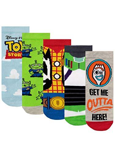 Disney Jungen Socken Packung mit 5 Toy Story Mehrfarbig 31-36