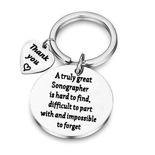BAUNA Sonographer Gifts A Truly Great Sonographer is Hard to Find Sonographer Keychain Ultrasound...