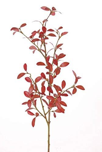 artplants.de Set 5 x Ramas Decorativas de alheña de plástico Menzel, Rojo,...