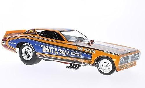 Dodge Charger Funny Car, Weiß Bear, NHRA, 1971, Modellauto, Fertigmodell, ERTL American Muscle 1 18
