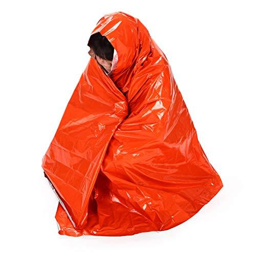GFYWZ Sac De Couchage d'urgence Couverture De Survie en Plein Air Thermique Réfléchissant Temps Froid Abri Tente Camping Randonnée Multifonction Tapis, 210 * 130Cm, 5Pcs