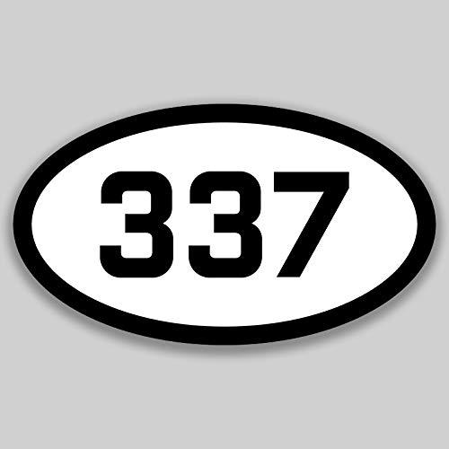 DHDM 337 Area Code Sticker Louisiana Lafayette Lake Charles New Iberia City Pride Love | 5-Inches by 3-Inches | Premium Quality Vinyl UV Resistant Laminate PD2170