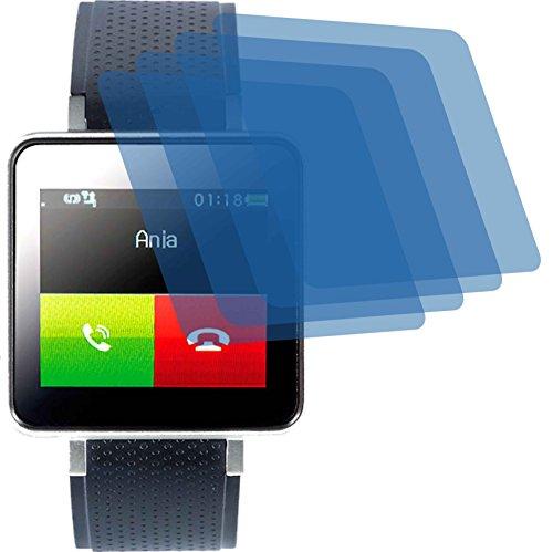 4ProTec I 4X Crystal Clear klar Schutzfolie für Pearl Simvalley Mobile PW-415.Steel Bildschirmschutzfolie Displayschutzfolie Schutzhülle Bildschirmschutz Bildschirmfolie Folie