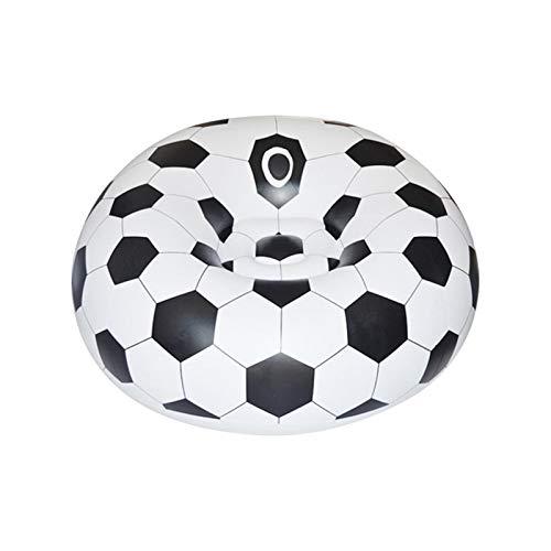 POHOVE Pouf gonflable en forme de ballon de football pour adultes/enfants, camping, plage et utilisation à la maison