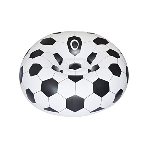 MOVKZACV Soccer Ball Chair, Beanless Bag Inflatable Chair, Air Sofa Portable Outdoor Inflatable Lazy Sofa Chair for Adults, Kids, Washable Couch Bean Bag Chair