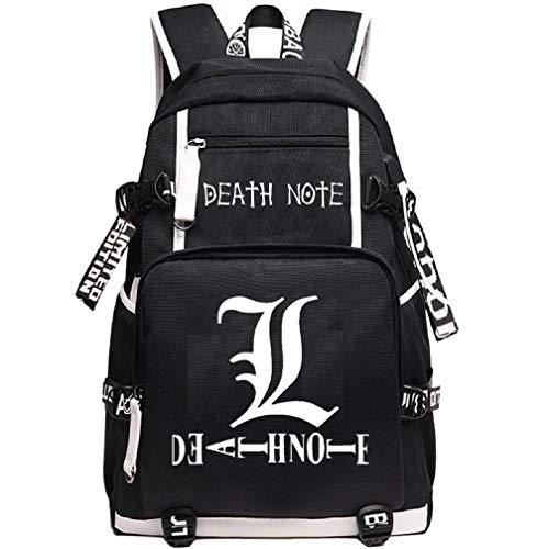 YOYOSHome Anime Death Note Cosplay Zainetto Bookbag Portatile Zaino Scuola con Porta USB di Ricarica