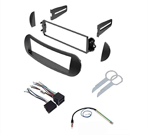 ASC Car Stereo Dash Kit, Wire Harness, Antenna Adapter, and Radio Tool for Installing a Single Din Radio for select VW Volkswagen Beetle Vehicles - Compatible Vehicles Listed Below