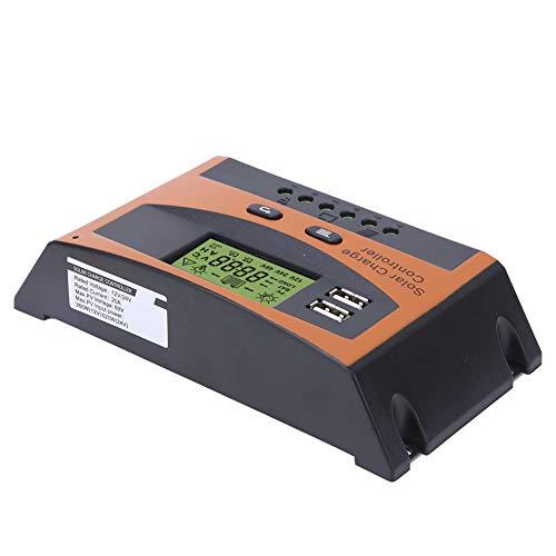 FECAMOS Controlador De Carga PWM, Regulador Inteligente De Batería De Alto Rendimiento Controlador De Carga Solar 20A 12V / 24V para Protección De Circuito Protección De Conexión Inversa