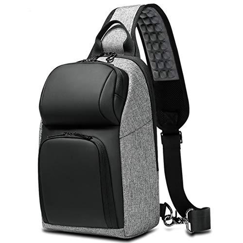 Adlereyire Sling Bag Fashion Chest Shoulder Backpack Crossbody Bag Ideal for Men Women Lightweight Outdoor Sports Travel Hiking (Color : Black, Size : 20 * 12 * 31cm)