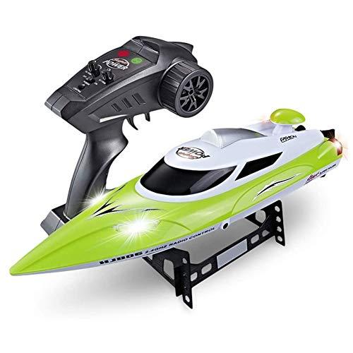 GRTVF Barco de control remoto, 2.4GHz Barco de carreras RC de alta velocidad 150M Distancia de control remoto de la distancia de carreras rápida con sistema de enfriamiento de agua Niños Modelo de jug